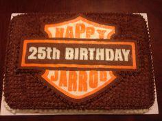 Harley Davidson theme birthday cake.