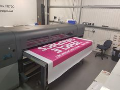 Being printed on our Scitex FB700..