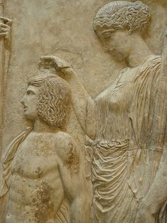 Fragment of the Great Eleusinian Relief Roman copy Augustan period 27 CE Ancient Rome, Ancient Greece, Ancient Art, Ancient History, Greek History, Roman History, Classical Period, Classical Art, Roman Sculpture