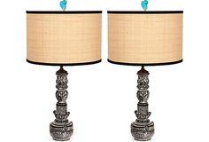 Black & White Vintage Lamps, Pair on OneKingsLane.com