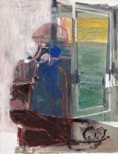 Synnove in interior - Ludvig Eikaas , 1950-80Norwegian,...