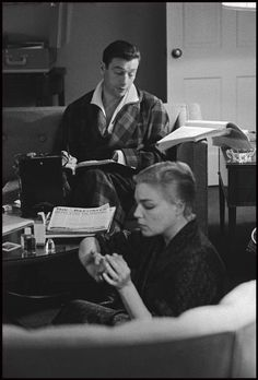 Yves Montand and Simone Signoret by Bruce Davidson, 1960