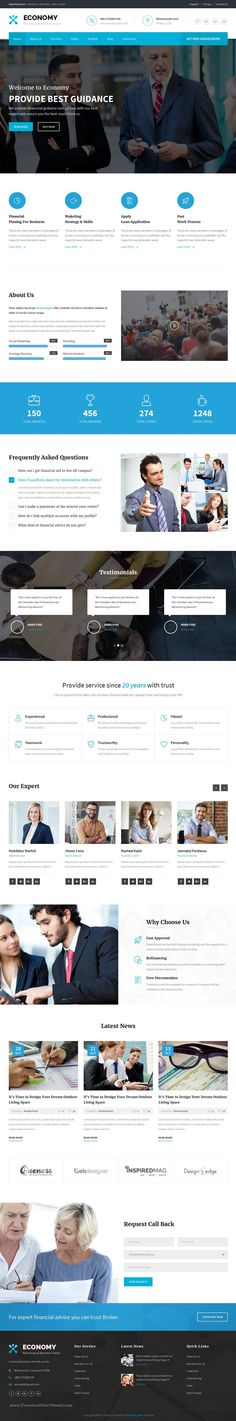 Economy is a clean and Modern Bootstrap HTML Template. Best suited for #corporate #website like Financial Advisor, #Accountant, Consulting #Firms, insurance, loan, tax help, Investment firm etc.