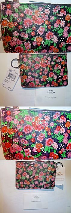 Other Womens ID and Doc Holders 169289: Coach Pink Paisley Key Pouch Wallet Key Fob F57984 -> BUY IT NOW ONLY: $32.99 on eBay!