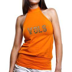 Tennessee Volunteers Women's Tennessee Orange Bloused Premium Halter Top