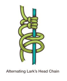 How to Macrame: ALternating Larks Head Chain