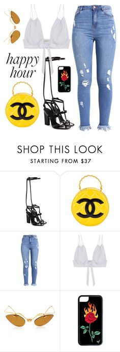 """""""Happy Hour  #fashion #happyhour #chanel #polyvore #bralette"""" by luciargx ❤ liked on Polyvore featuring Alexander Wang, Chanel and Three Graces"""