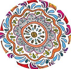semplice mandala  marker colorati e pennino  Zazzi illustratrice  #mandala #colormarker