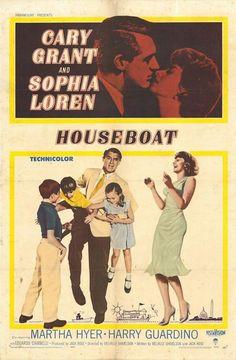 Houseboat (1958)  cary #grant sophia #loren