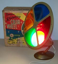 retro color wheel - remember the silver aluminum foil Christmas trees? The color wheel made the tree change colors.