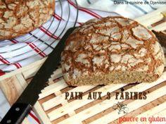 Pains aux 3 farines, pauvre en gluten – Vegan • Hellocoton.fr