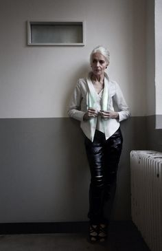Fashion Over 60: Anna von Ruden (age 61) Germanys supermodel in apparel by MOON-BERLIN Fashion, Germany