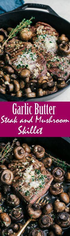 Garlic Butter Steak & Mushroom Skillet