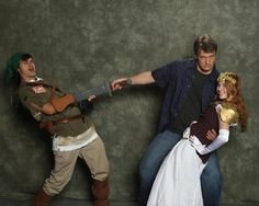 Nathan Fillion, Ultimate Nerd Icon!!!!! he'll take your master sword, he'll take your princess XD