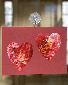 Crayon Stained Glass Heart Cards How-To