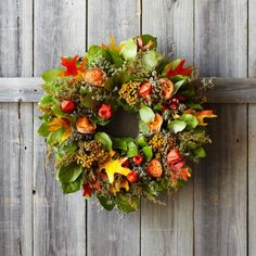 Harvest Quince Wreath, available at #surlatable