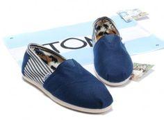 Toms Blue University Rope Sole Women Classics [tomsonlinefactory 040] - $17.58 : Cheap Toms Stripe shoes for Men and Women Sale