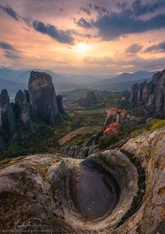 - On the edge of a cliff at Meteora, Greece by ilias nikoloulis