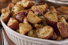 """French Roasted Potatoes ~ We've added just a hint of flavorful Dijon-style mustard to these French Roasted Potatoes to give them that special pizzazz that makes everyone go """"OOH!"""""""
