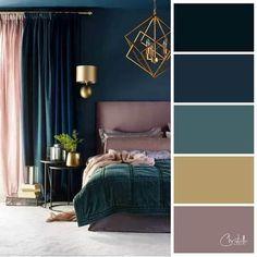67 ideas art deco furniture painted design for 2019 Bedroom Color Schemes, Bedroom Colors, Colour Schemes, Art Deco Bedroom, Home Decor Bedroom, Cores Art Deco, Paint Colors For Home, House Colors, Art Deco Colors