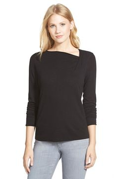 NIC+ZOE 'Over the Moon' Asymmetrical Neck Top available at #Nordstrom