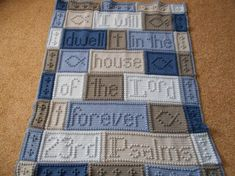 Crocheting: 23RD PSALMS crochet blanket patterns
