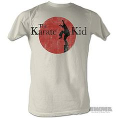 "The '80s classic! This 100% pre-shrunk ringspun cotton white ""Karate Kid"" t-shirt $10"