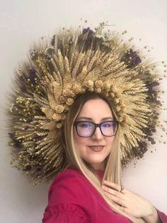 Faerie crown, Headdress, kokoshnik, wreath wall, wedding wreath, bridesmaids, Ukraine tradition, fairy costume,fields Queen, wedding rustik Crown, Jewelry, Corona, Jewlery, Jewerly, Schmuck, Jewels, Jewelery, Crowns