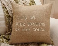 .Need this burlap pillow!