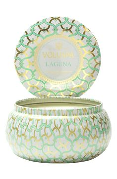 Dreaming of the open seas with this beautifully scented Voluspa 2-wick candle.