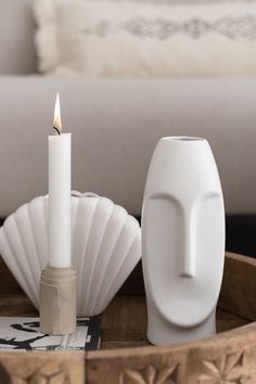 By SIDDE - ELLE INTERIEUR Decorative Accessories, Home Accessories, Mini Candles, Candle Making, Clay Art, Ceramic Art, Modern Decor, Room Inspiration, Decoration