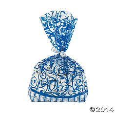 Blue Swirl Bags