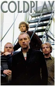 Coldplay Chris Martin and Group on Stairs Music Poster   I kind of really want this poster... #Coldplay