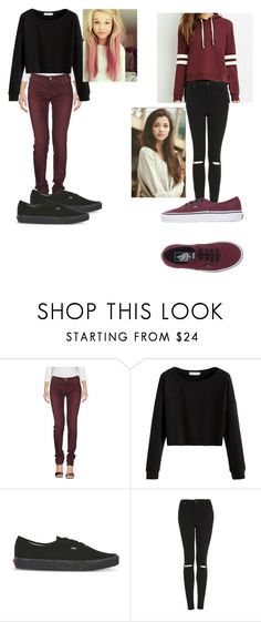 """left:Sammy , right:Chloe"" by yoitsdd ❤ liked on Polyvore featuring Armani Jeans, Vans and Topshop"