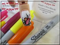 Sharpie nail art, easy tutorial by @mllrdesign - YouTube