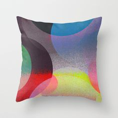 """""""Untitled (ANDY'S CIRCLE) 20121006u"""" Throw Pillow by Tchmo on Society6."""