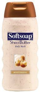 Softsoap Moisturizing Body Wash, Shea Butter, 24 fl oz (1.5 pt) 709 ml by Softsoap. $12.99. Softsoap Brand Shea Butter Body Wash brings one of the finest natural moisturizing ingredients to your daily shower. The rich and creamy formula contains beads filled with shea butter to help keep skin feeling touchable, soft, and smooth. Plus, the luxurious lather cleanses your skin while the moisturizing formula helps retain skin's natural moisture.