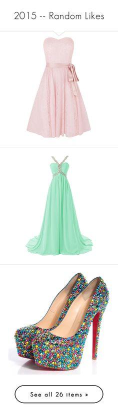 """2015 -- Random Likes"" by kyla-perez-santiago ❤ liked on Polyvore featuring dresses, short dresses, pink, vestidos, robes, lace maxi dress, floral maxi dress, long-sleeve midi dresses, short sleeve dress and prom dresses"