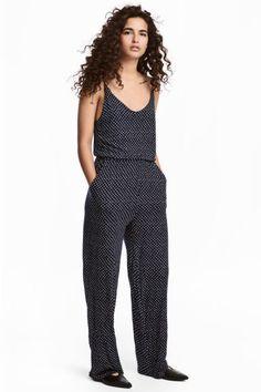 6beab3eda830 Jersey jumpsuit - Dark blue Spotted - Ladies