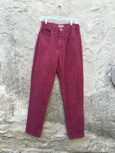 Vintage 90s Guess Burgundy Wine High Waisted by WhiteCityVintage