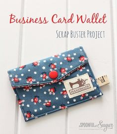 Easy Sewing Projects to Sell - Business Card Wallet - DIY Sewing Ideas for Your Craft Business. Make Money with these Simple Gift Ideas, Free Patterns, Products from Fabric Scraps, Cute Kids Tutorials http://diyjoy.com/sewing-crafts-to-make-and-sell