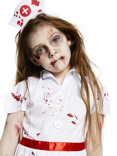 For kids who want a slightly scarier costume for Halloween, how about this zombie nurse costume? This easy kids Halloween costume is from partydelights.co.uk and all you need is grey face paint and fake blood to complete the look.