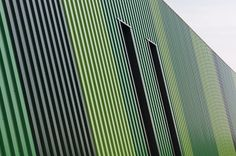 Gemeentewerf, Waalwijk  Architect: Van Aken Architecten Product: Hacierba 44/180-5B Coating: Hairultra Mint 4636, Clorofila 4608, Malachite 4659