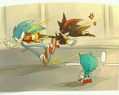 Shadow stop it your going to scar little sonic Shadow The Hedgehog, Sonic The Hedgehog, Sonic Funny, Sonic 3, Sonic Fan Art, Sonic Fan Characters, Video Game Characters, Sonic Underground, Classic Sonic