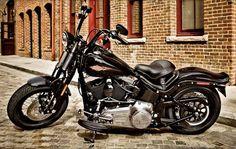 harley davidson crossbones softail #motorcycles #motorbikes #bikes