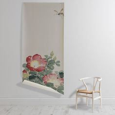 'Wasp, Red Flower and Foliage' M Shop, Wasp, Red Flowers, Botanical Gardens, Bud, Wall Murals, Bloom, Cushions, Prints