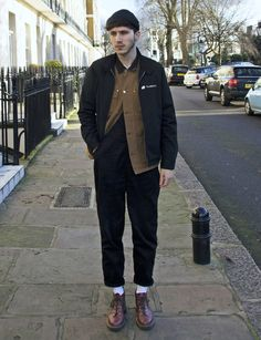 David wearing the Oxblood Leather Church Boot.
