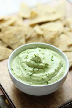 This Avocado Ranch Dip with Greek Yogurt is great with tortilla chips or as a healthy vegetable dip! Kinda like ranch dip meets guacamole. Ready in moments!