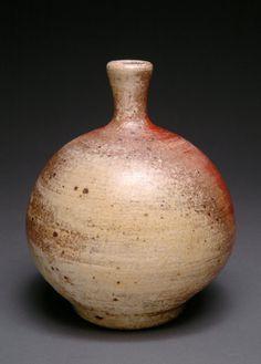 Wood Fired Yohen Round Bottle/Vase by YuishCeramics on Etsy, $48.00