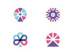 Some concepts I've been playing around for an ambiguous ferris wheel symbol.    Would love to get your thoughts, or which one you prefer.